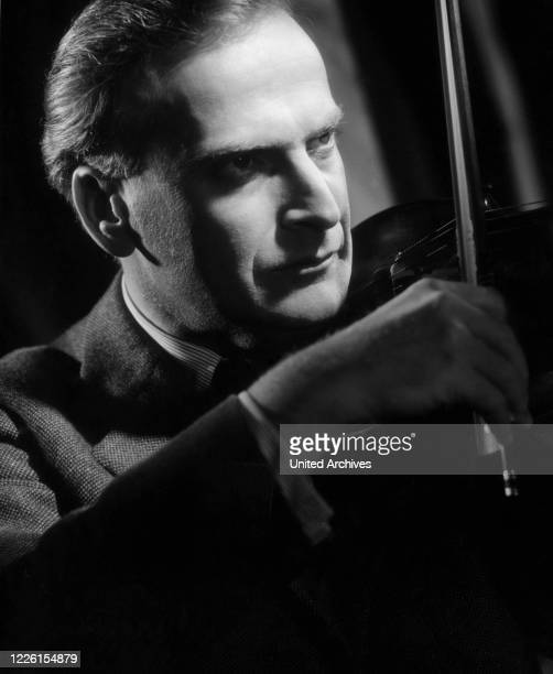 Violinist YEHUDI MENUHIN Studioaufnahme 1960