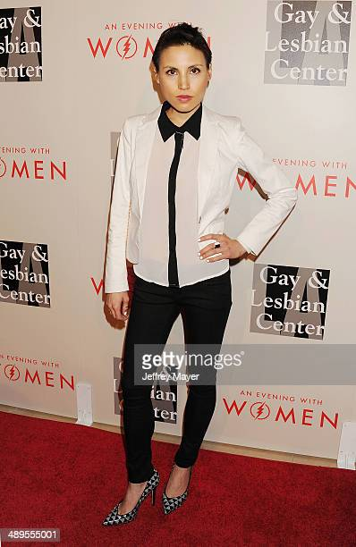 Violinist/composer Chrysanthe Tan arrives at the 2014 An Evening With Women Benefiting LA Gay Lesbian Center at the Beverly Hilton Hotel on May 10...