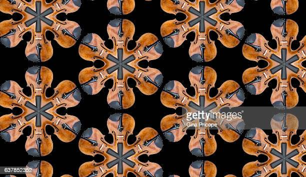 violins, kaleidoscope effect. - classical stock pictures, royalty-free photos & images