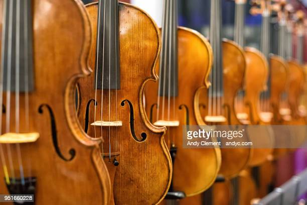 violins - andy clement stock pictures, royalty-free photos & images