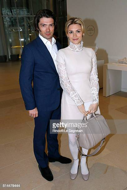 Violoncellist Gautier Capucon and his wife Delphine attend the Louis Vuitton show as part of the Paris Fashion Week Womenswear Fall/Winter 2016/2017....