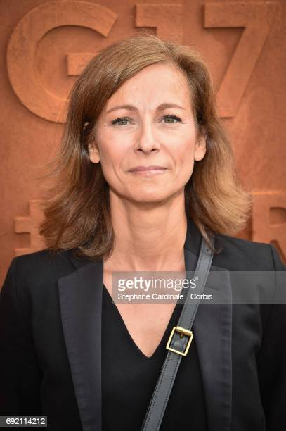 Violonist Anne Gravoin attends the 2017 French Tennis Open Day Seven at Roland Garros on June 3 2017 in Paris France