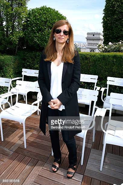 Violonist Anne Gravoin attends the Franck Sorbier Haute Couture Fall/Winter 20162017 show as part of Paris Fashion Week on July 6 2016 in Paris France