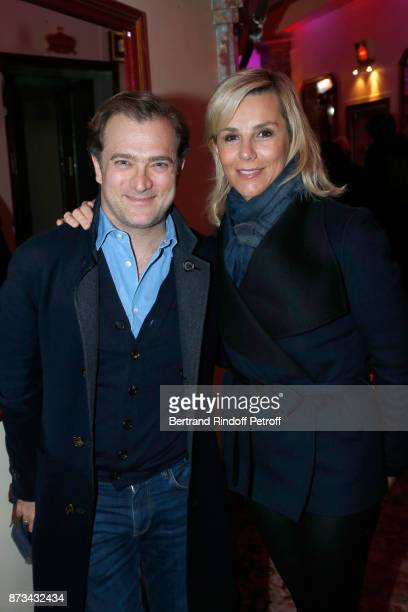 Violonist Renaud Capucon and his companion journalist Laurence Ferrari attend 'Depardieu Chante Barbara' at 'Le Cirque D'Hiver' on November 12 2017...