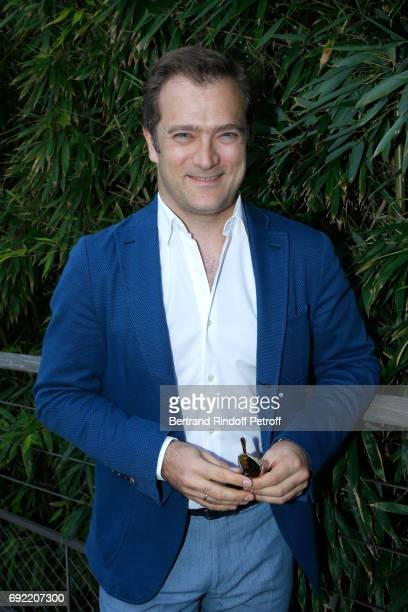 Violonist Renaud Capucon attends the 2017 French Tennis Open Day Height at Roland Garros on June 4 2017 in Paris France