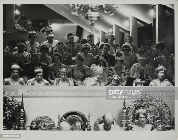 VIPhotographed during the Coronation of King George VI in Westminster Abbey left to right The Duchess of Kent The Duchess of Gloucester the Countess...