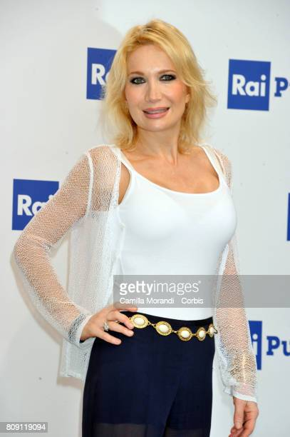 Vira Carbone attends the Rai Show Schedule Presentation In Rome on July 4 2017 in Rome Italy