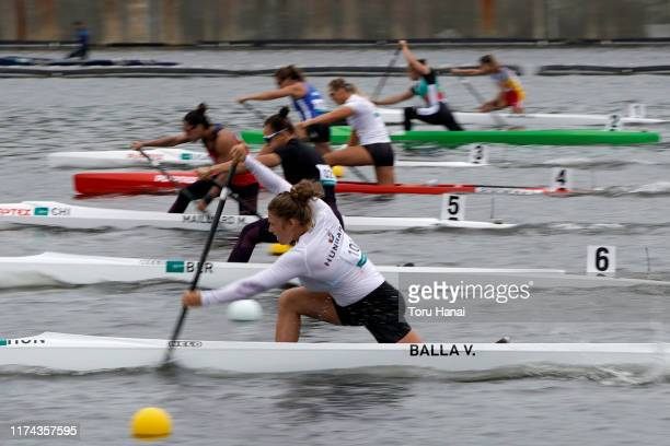 Virag Balla of Hungary competes in the Women's Canoe Single 200m semifinal during a canoe sprint test eventfor the Tokyo 2020 Olympic and Paralympic...