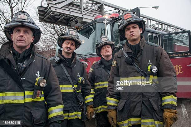 FIRE Viral Episode 116 Pictured David Eigenberg as Christopher Herrmann Yuri Sardarov as Otis Christian Stolte as Mouch Charlie Barnett as Peter Mills