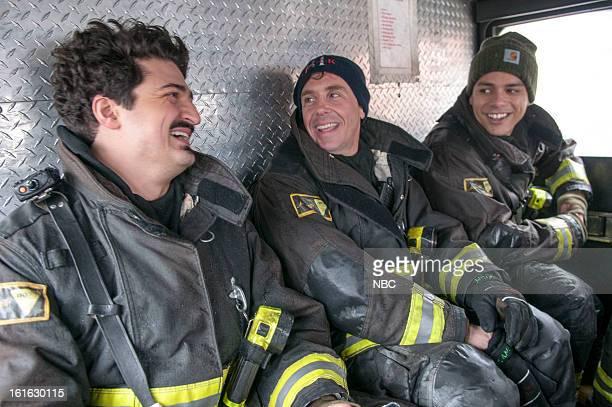 FIRE Viral Episode 116 Pictured Yuri Sardarov as Otis David Eigenberg as Christopher Herrmann Charlie Barnett as Peter Mills