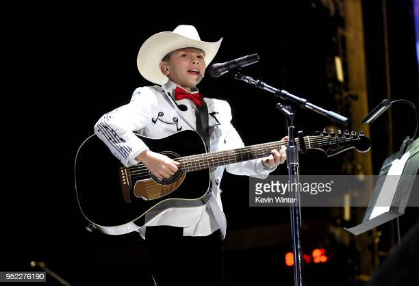 Viral internet sensation Mason Ramsey aka The Walmart Yodeling Boy performs onstage with Florida Georgia Line during 2018 Stagecoach California's...