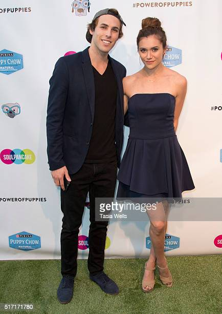 Viral Snapchat star Tristan De Burgh and actress Alyson Stoner attend SoulPancake's Puppypalooza Party at SoulPancakes Headquarters on March 23 2016...