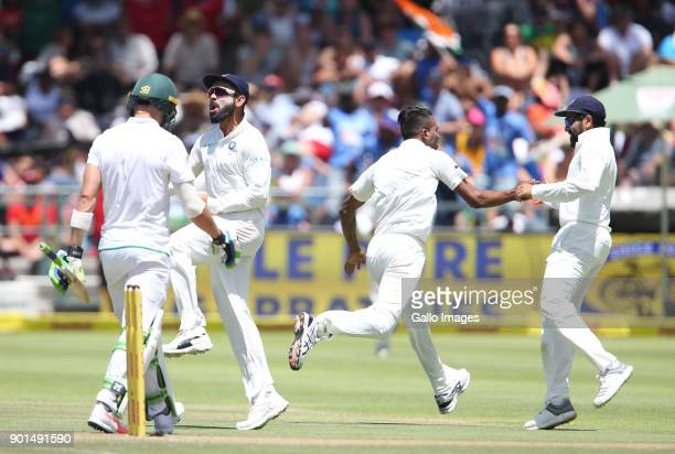 Virat Kohli during day 1 of the 1st Sunfoil Test match between South Africa and India at PPC Newlands on January 05 2018 in Cape Town South Africa