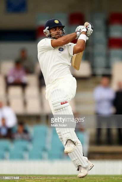 Virat Kohli of India bats during day one of the International Tour match between India and the Cricket Australia Chairman's XI at Manuka Oval on...