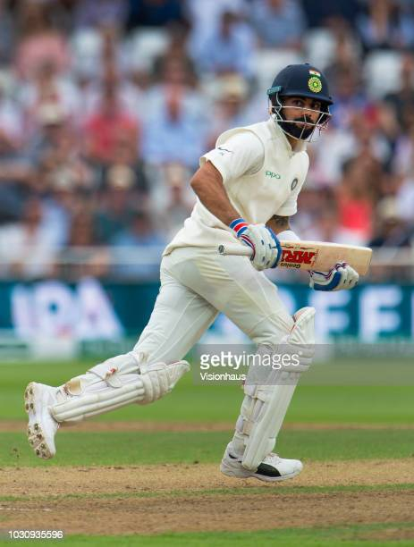Virat Kohli of India bats during day three of the Specsavers 3rd Test match between England and India at Trent Bridge on August 20, 2018 in...
