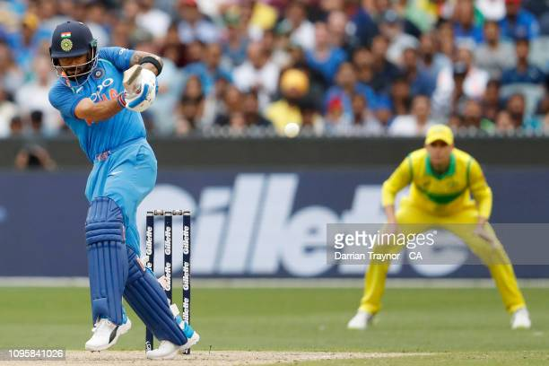 Virat Kohli of India bats during game three of the One Day International series between Australia and India at Melbourne Cricket Ground on January...