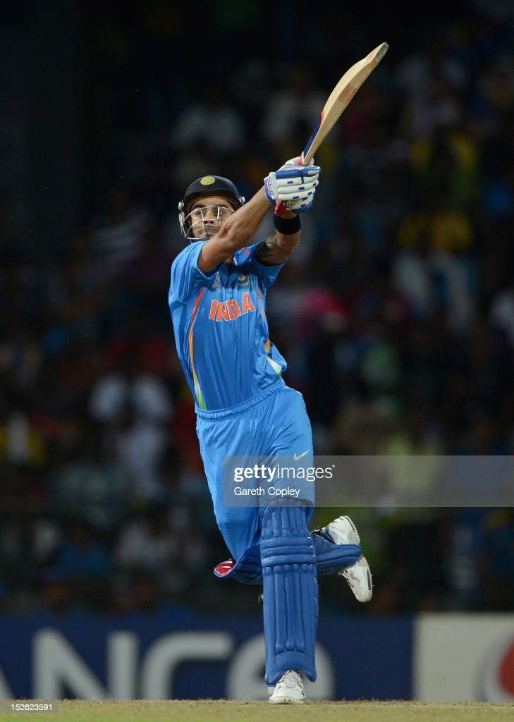 Virat Kohli of India bats during the ICC World Twenty20 2012 Group A match between England and India at R. Premadasa Stadium on September 23, 2012 in Colombo, Sri Lanka.