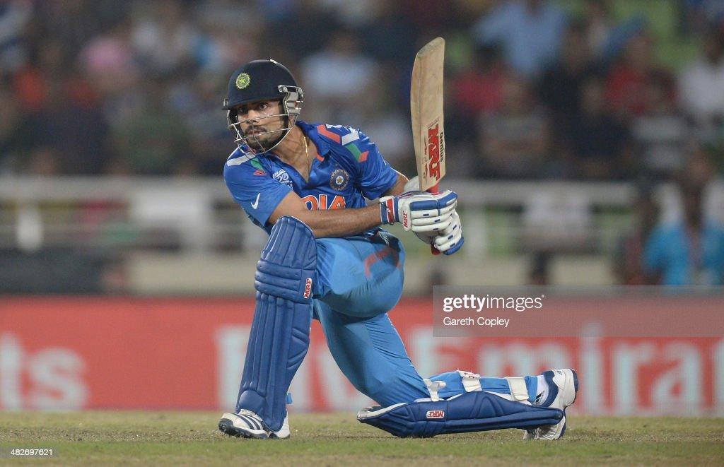 Virat Kohli of India bats during the ICC World Twenty20 Bangladesh 2014 semi final between India and South Africa at Sher-e-Bangla Mirpur Stadium on April 4, 2014 in Dhaka, Bangladesh.