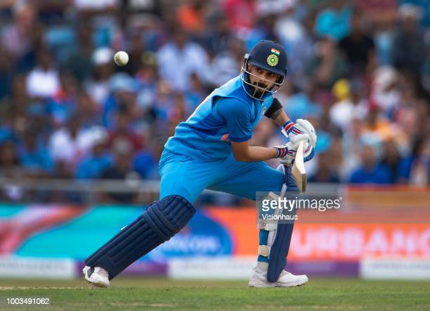 Virat Kohli of India batting during the 3rd Royal London ODI match between England and India at Headingley on July 17 2018 in Leeds England