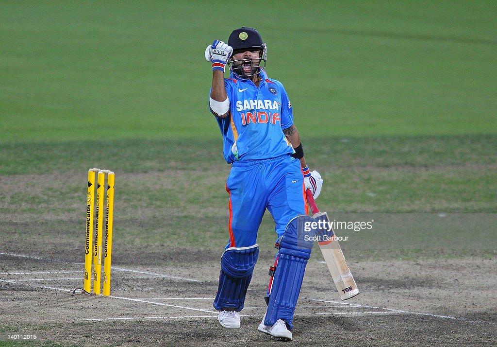 India v Sri Lanka - Tri-Series Game 11 : News Photo