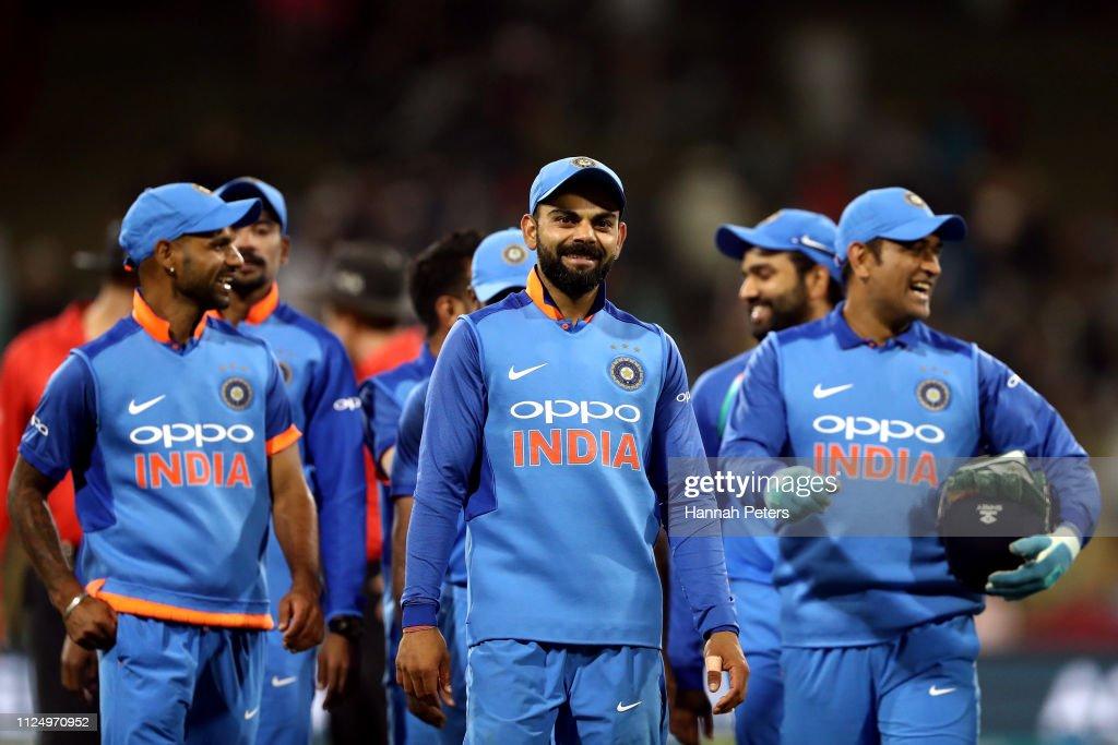 New Zealand v India - ODI Game 2 : Nachrichtenfoto