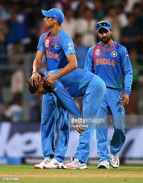 Virat Kohli of India looks dejected after West Indies hit the winning runs during the ICC World Twenty20 India 2016 Semi Final match between West...