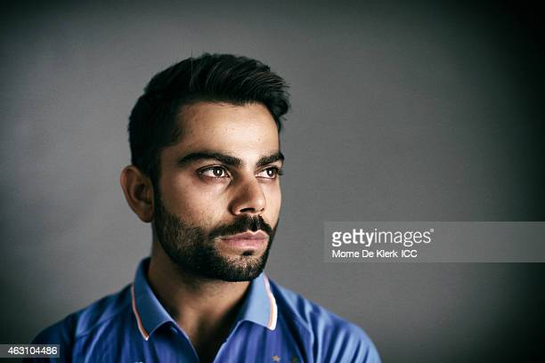 Virat Kohli of India poses during the India 2015 ICC Cricket World Cup Headshots Session at the Intercontinental on February 7 2015 in Adelaide...