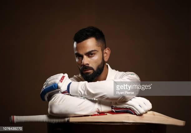 Virat Kohli of India poses during the India Test squad portrait session on December 03 2018 in Adelaide Australia
