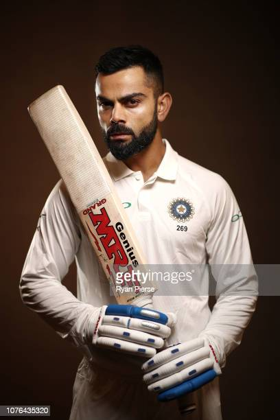 Virat Kohli of India poses during the India Test squad portrait session on December 03 2018 in Adelaide Australia