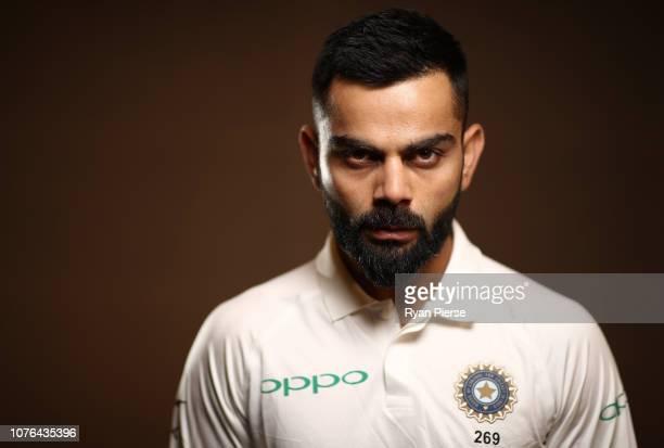Virat Kohli of India poses during the India Test squad portrait session on December 03, 2018 in Adelaide, Australia.
