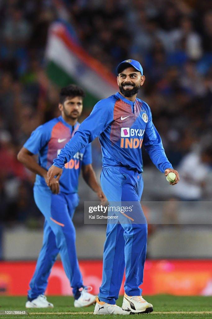 New Zealand v India - T20: Game 1 : ニュース写真
