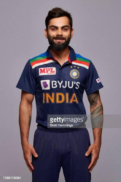 Virat Kohli poses during the India Men's Twenty20 team headshots session at the Intercontinental on November 28, 2020 in Sydney, Australia.