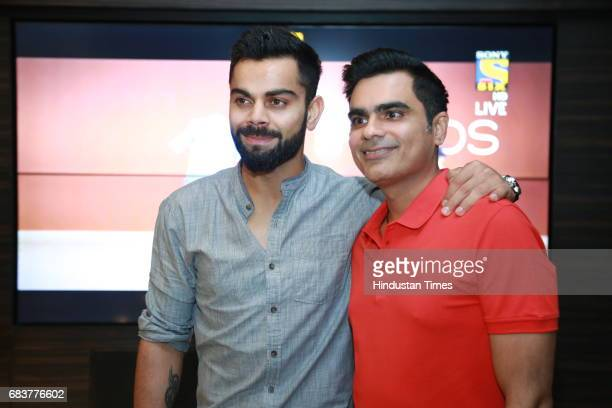 Virat Kohli with Vikrant Batra during special dinner for Royal Challengers Bangalore teammates by Virat Kohli at his new restaurant Nueva RK Puram on...