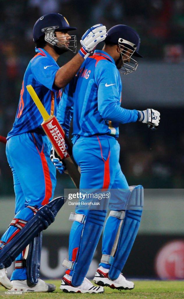 India v Bangladesh: Group B - 2011 ICC World Cup : News Photo