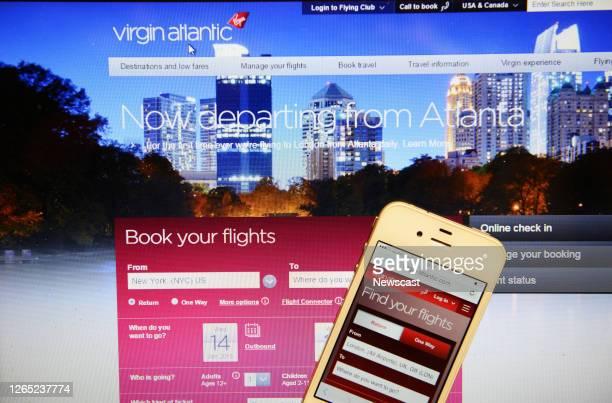 Virgan Athlantic Website with Iphone.