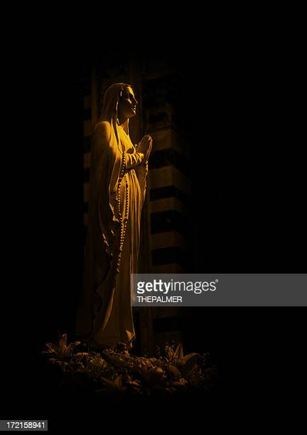 virgen of pisa - virgin mary stock photos and pictures
