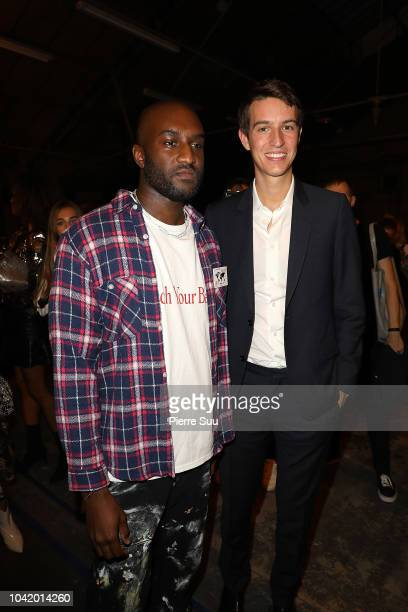 Virgil Abloh and Alexandre Arnault are seen backstage after the OffWhite show as part of the Paris Fashion Week Womenswear Spring/Summer 2019 on...
