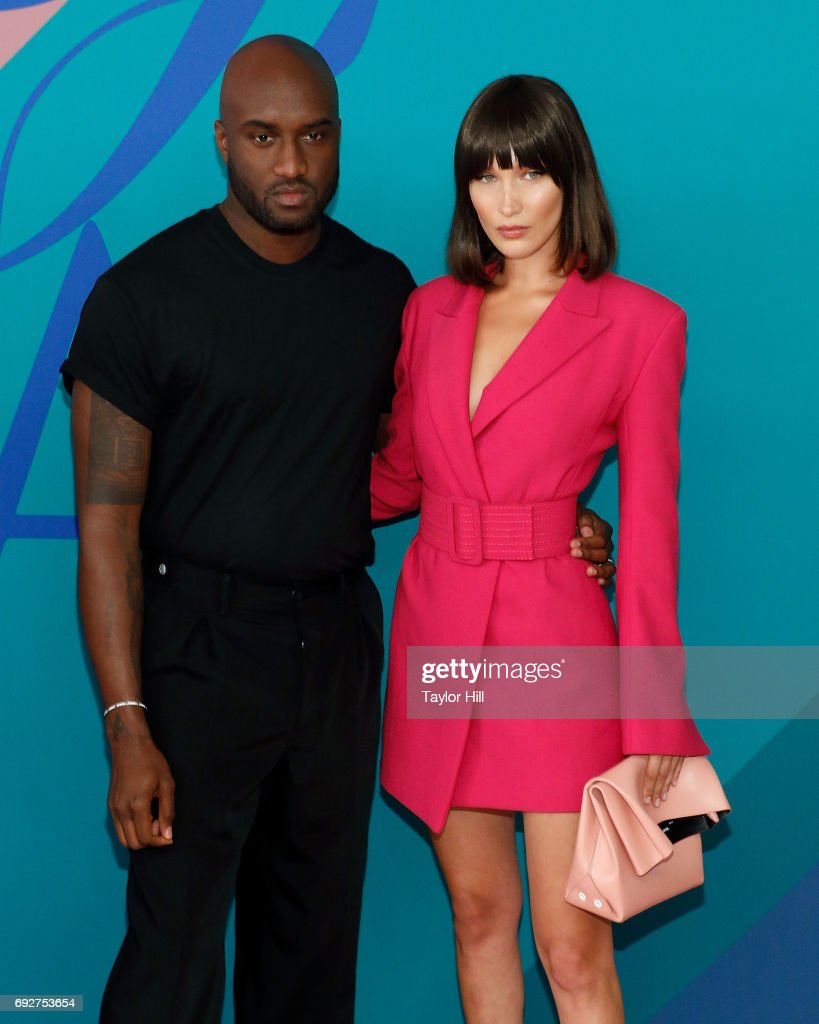 Virgil Abloh and Bella Hadid attend the 2017 CFDA Fashion Awards at Hammerstein Ballroom on June 5, 2017 in New York City.