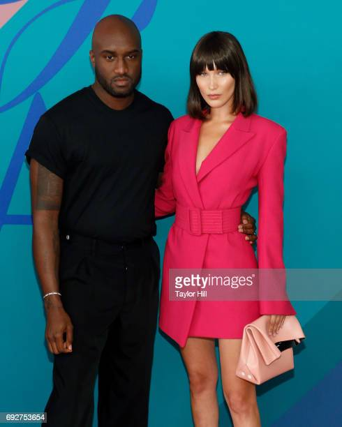 Virgil Abloh and Bella Hadid attend the 2017 CFDA Fashion Awards at Hammerstein Ballroom on June 5 2017 in New York City