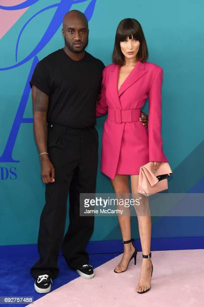 Virgil Abloh and Bella Hadid attends the 2017 CFDA Fashion Awards at Hammerstein Ballroom on June 5 2017 in New York City