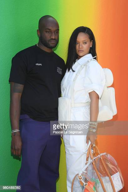 Virgil Abloh and Rihanna after the Louis Vuitton Menswear Spring/Summer 2019 show as part of Paris Fashion Week on June 21 2018 in Paris France