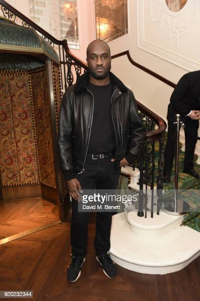 Virgil Abloh attends as Tiffany Co partners with British Vogue Edward Enninful Steve McQueen Kate Moss and Naomi Campbell to celebrate fashion and...