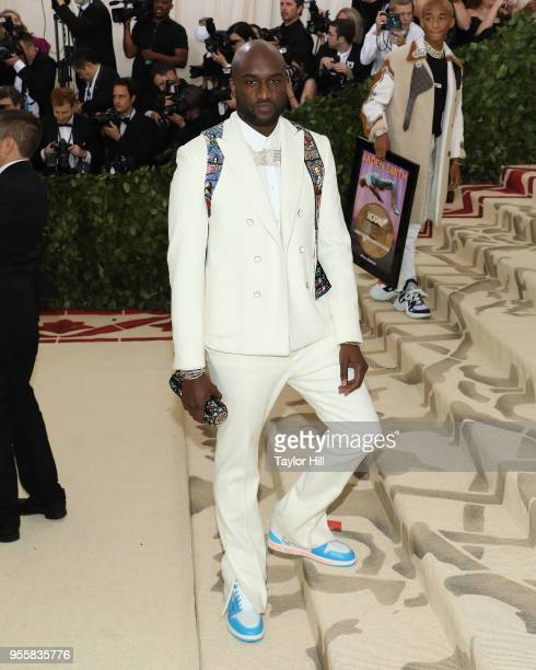"Virgil Abloh attends ""Heavenly Bodies: Fashion & the Catholic Imagination"", the 2018 Costume Institute Benefit at Metropolitan Museum of Art on May..."