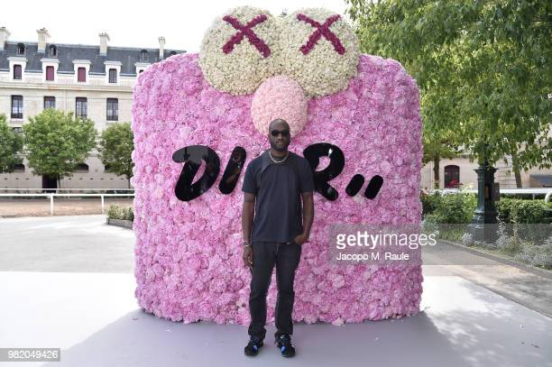Virgil Abloh attends the Dior Homme Menswear Spring/Summer 2019 show as part of Paris Fashion Week on June 23 2018 in Paris France