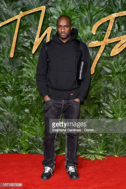 Virgil Abloh attends the Fashion Awards 2018 in partnership with Swarovski at Royal Albert Hall on December 10, 2018 in London, England.