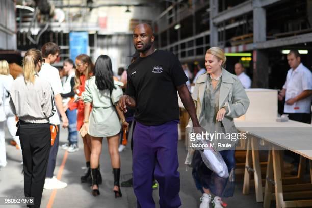 Virgil Abloh attends the Heron Preston Menswear Spring/Summer 2019 'En Vogue' Presentation as part of Paris Fashion Week on June 21 2018 in Paris...
