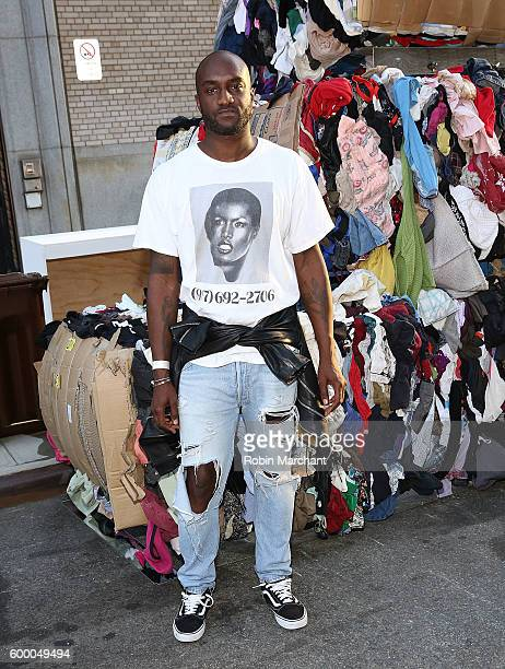 "Virgil Abloh attends ""Uniform"" Heron Preston For DSNY Presentation September 2016 during New York Fashion Week at DSNY Salt Shed on September 7, 2016..."