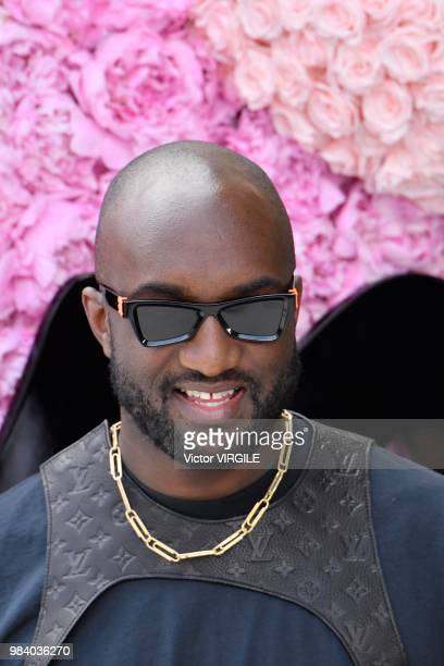 Virgil Abloh during the Dior Homme Menswear Spring/Summer 2019 fashion show as part of Paris Fashion Week on June 23 2018 in Paris France