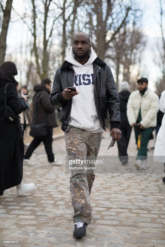 fe410773b5a2 Virgil Abloh is seen on the street attending Undercover during Paris ...