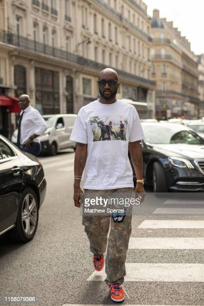 Virgil Abloh is seen on the street during Paris Mens Fashion Week on June 23, 2019 in Paris, France.